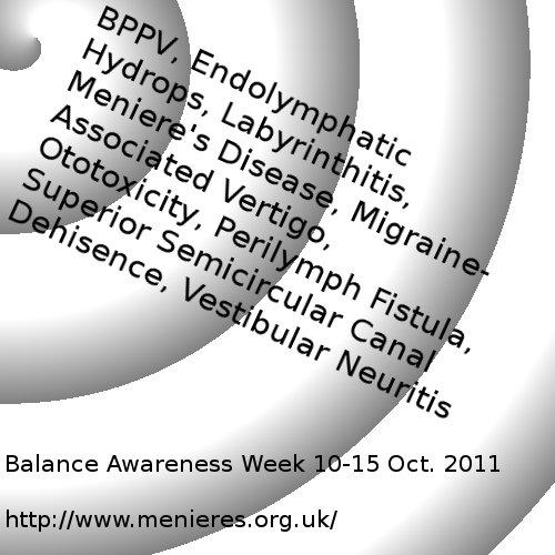 Meniere's and Balance Awareness week poster